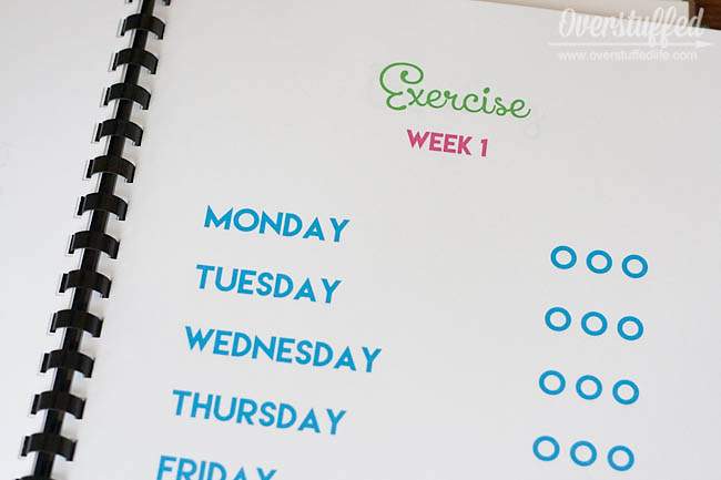 Checklists for summer exercise to be included in summer workbooks for kids.