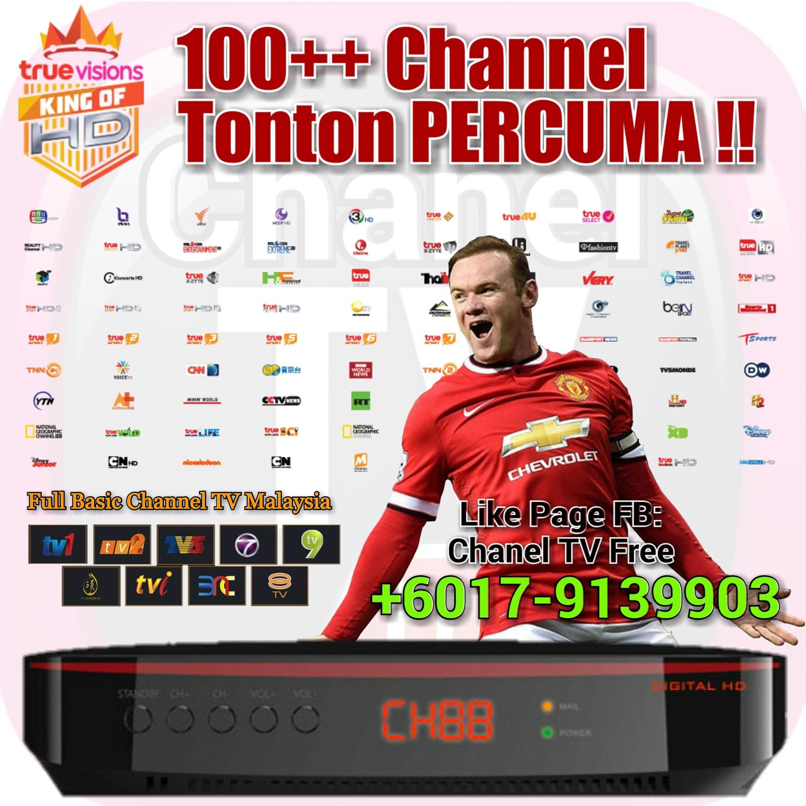 Dan boleh dapat siaran digital TV Full Basic Channel Malaysia ialah TV1 TV2 TV3 NTV7 8TV TV9 AL HIJRAH TVi dan BNC
