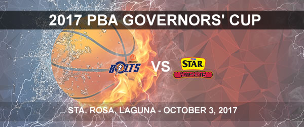 List of PBA Game(s) Tuesday October 3, 2017 @ Sta. Rosa Laguna