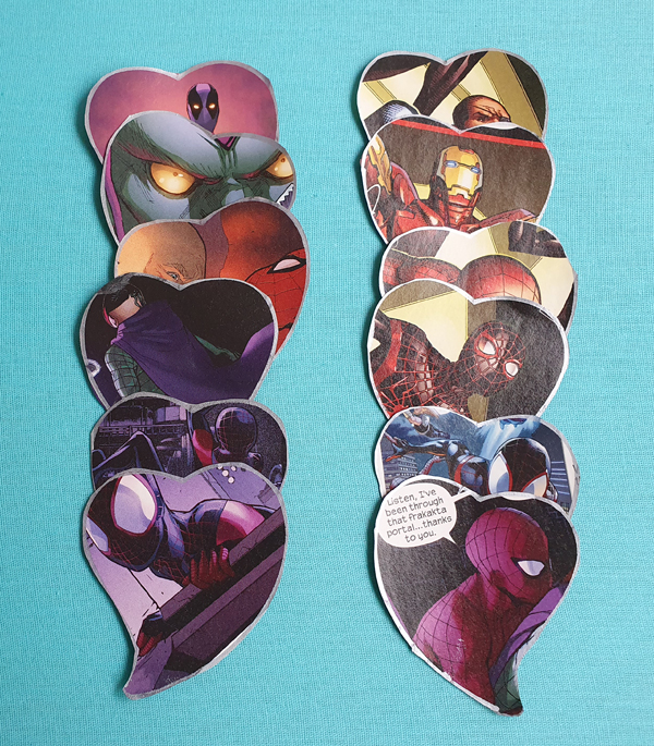 Collecting heart shaped marvel images for heart mobile