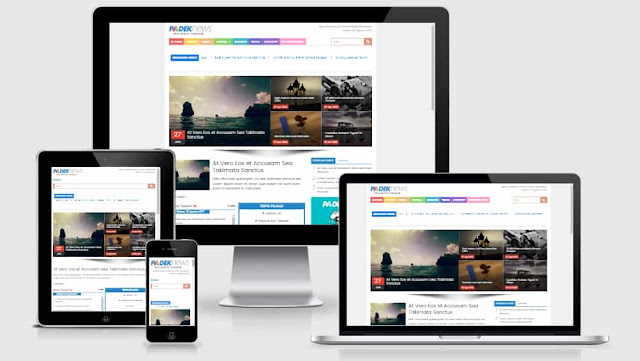 Blogger template responsive magmag 2017
