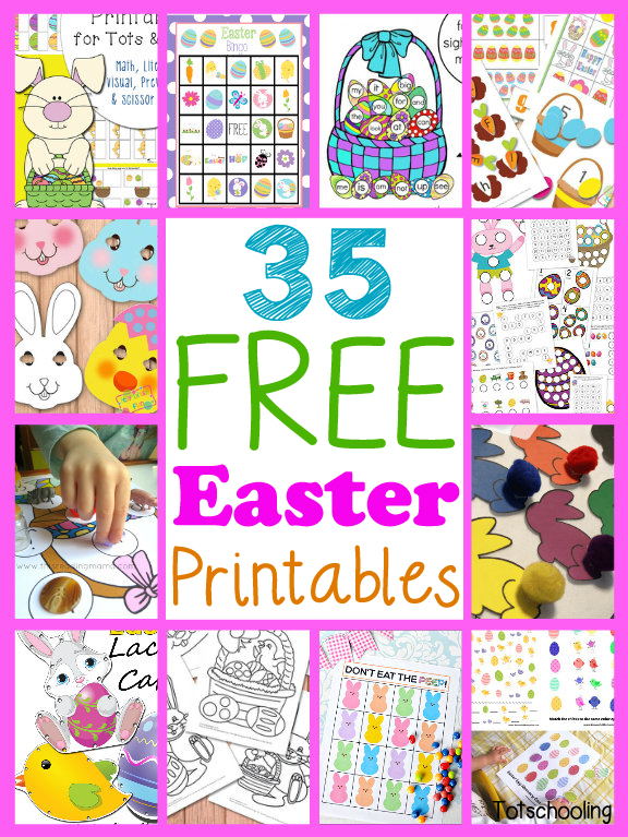 The best FREE Easter printables and printable packs for toddlers, preschoolers, kindergarten and beyond!