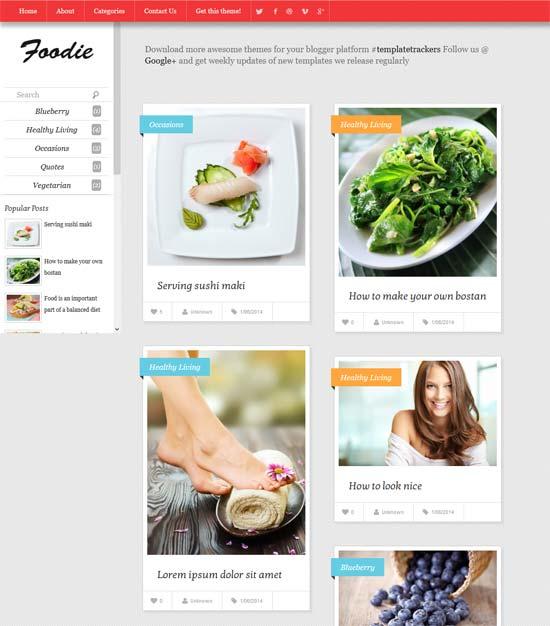 Blogger Tema-Yemek