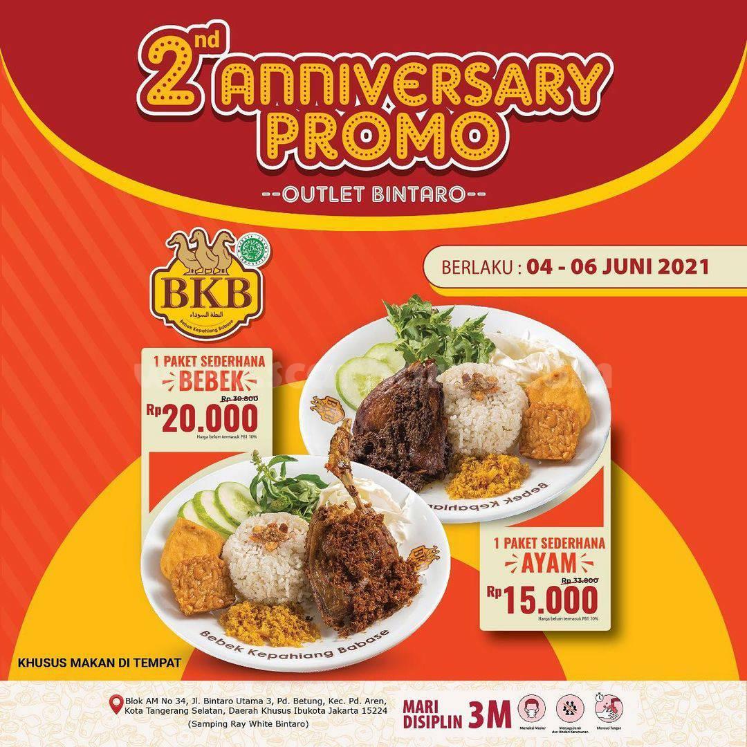 Bebek BKB Bintaro Promo 2nd Anniversary