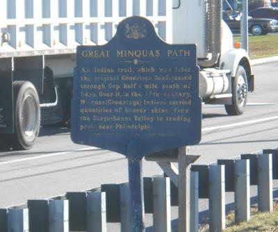 Great Minquas Path Historical Marker in Gap Pennsylvania