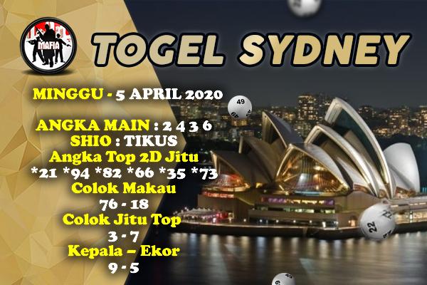 Syair Sidney Minggu 05 April 2020 - Prediksi Mafia