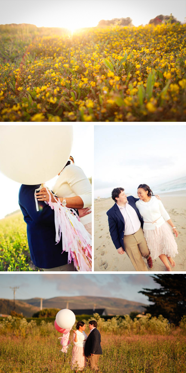 vintage-inspired engagement in Half Moon Bay | Vihn Nguyen Photography