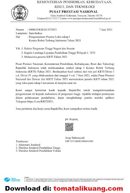 pengumuman hasil krti tahap 1; panduan tahap 2 krti tahun 2021 pdf tomatalikuang.com