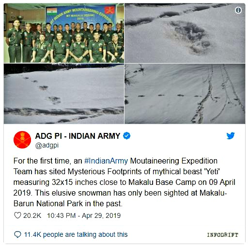Indian army tweet