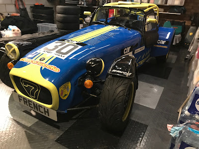 My 2018 Caterham Roadsport car looking a bit sorry for itself