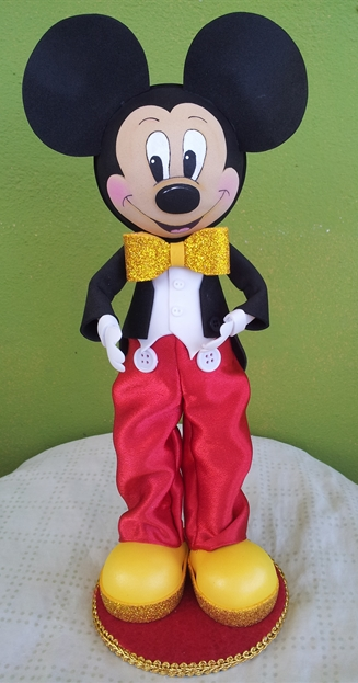 Scrapwluv Creations Mickey Mouse Fofucha Doll