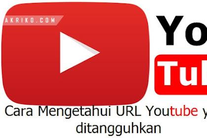 Cara Mengetahui URL Youtube yang ditangguhkan