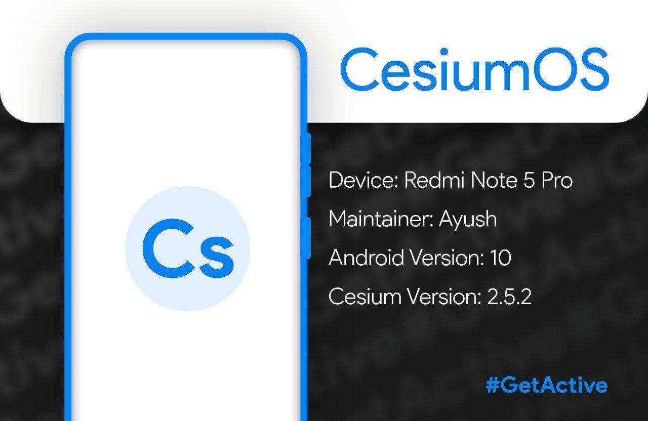 ROM CesiumOS Q Xiaomi Redmi Note 5 ( WHYRED )