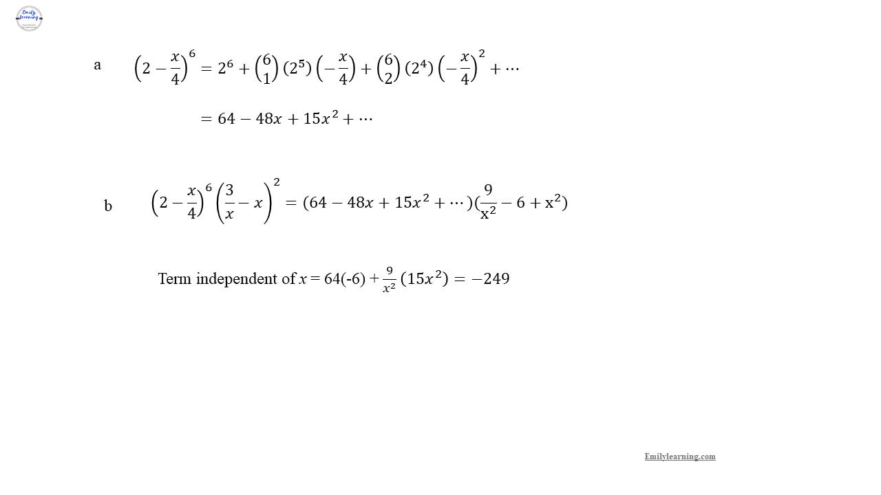 Add Math Specimen Paper 1 Question 3 on trigonometry - binomial expansion