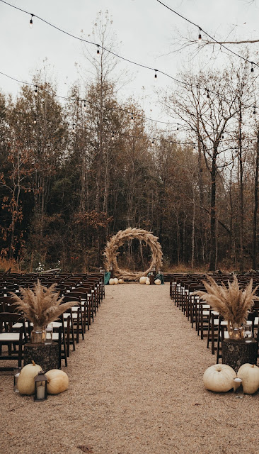Pampas Grass Ring for wedding alter