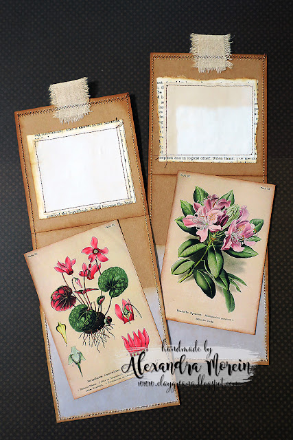 Nature inspired junk journal inserts