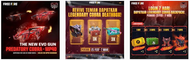 Cara bermain event  Cobra Go FF: Free Fire