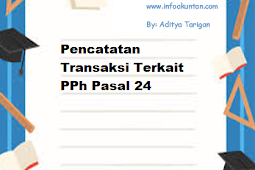 Pencatatan Transaksi Terkait PPh Pasal 24