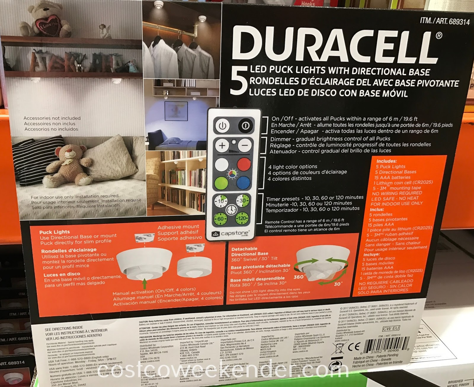 Duracell Led Puck Lights Costco Shelly Lighting