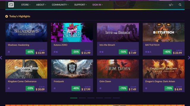 GOG situs download game pc gratis legal