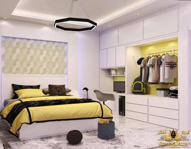 غرف نوم مودرن كاملة بالدولاب شباب