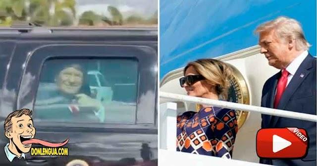 Varios Kilómetros de personas recibieron a Trump a su llegada a la Florida