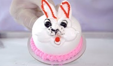 UGLY BUNNY RABBIT CAKE – ICE CREAM ROLLS