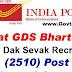 Indian Postal Department, Gujarat Circle 2510 Gramin Dak Sevak (GDS) Posts – Last Date Extended