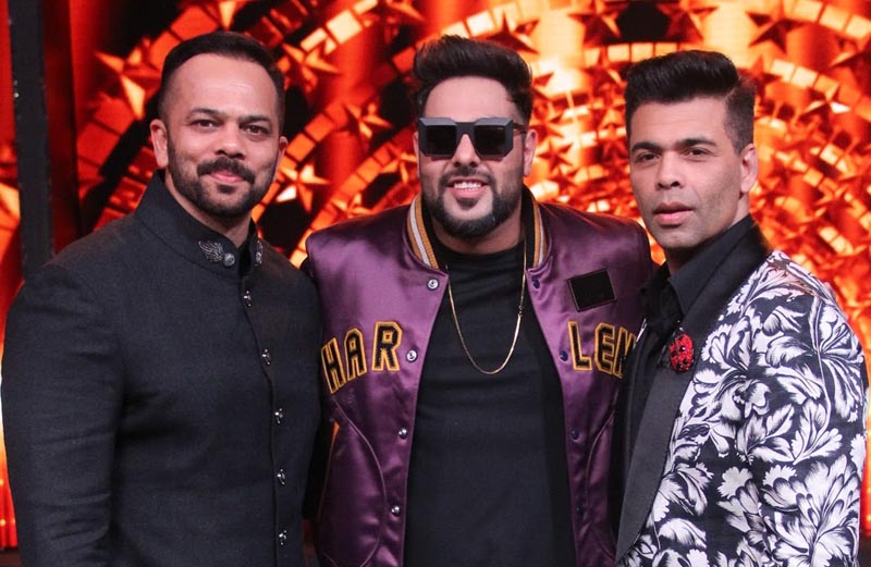 Badshah along with Rohit Shetty and Karan Johar on India's Next Superstars