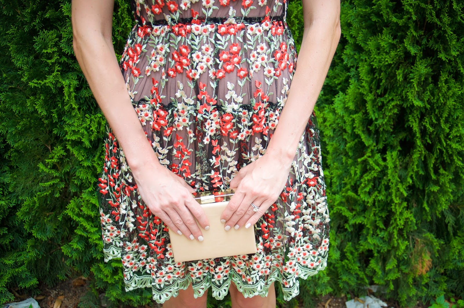 91be7340e55ff6 lily of the valley. [ Dress: Rent the Runway | Bag: Natasha Couture (also  love this and this) | Shoes: Calvin Klein (similar) | Shoes: Tom Ford