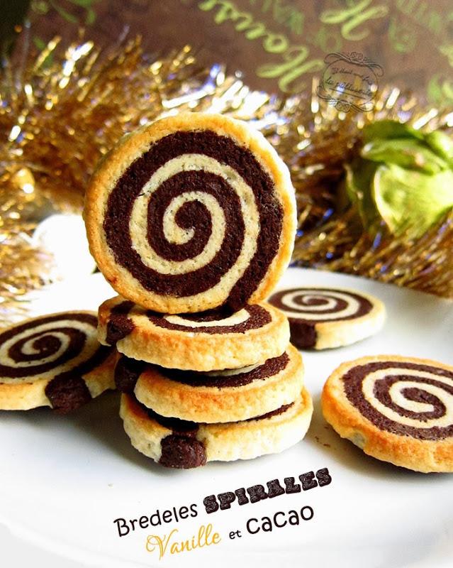 Bredeles spirales vanille chocolat