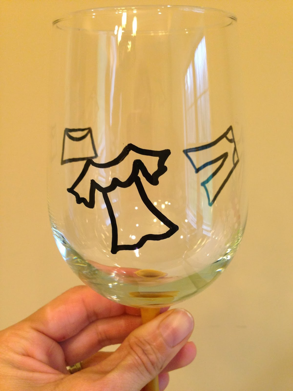 Not your ordinary psychic mom how to paint wine glasses for Type of paint to use on wine glasses