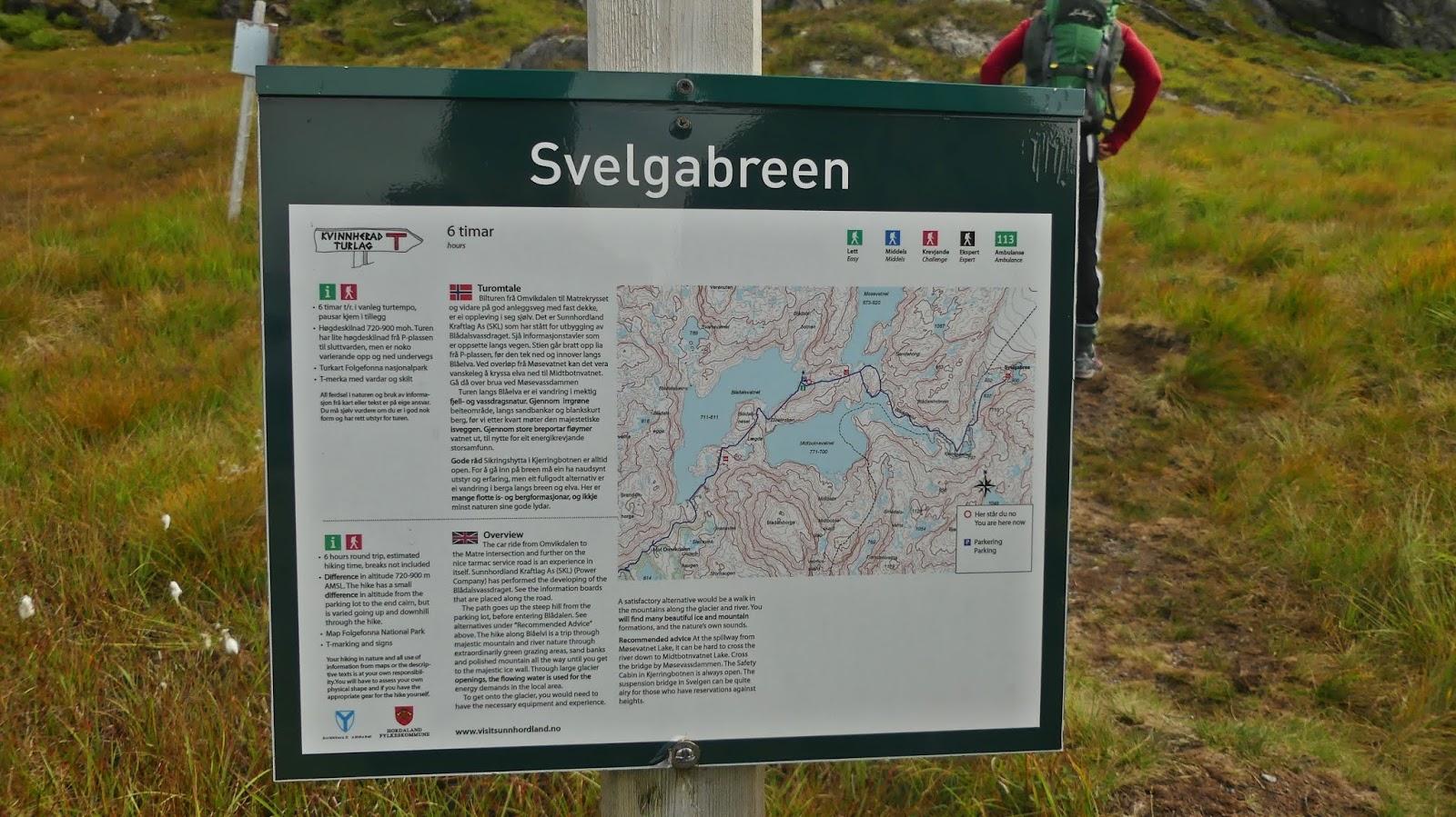 Trasa pod jęzor lodowca Folgefonna