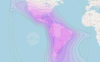Footprints and Beam Coverage Satellite Arsat 2 81.0°W C Band