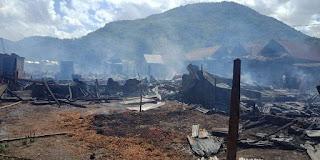 Kebakaran Hebat Melanda Desa Ngali, Kerugian Ditaksir Capai Rp4 Milyar