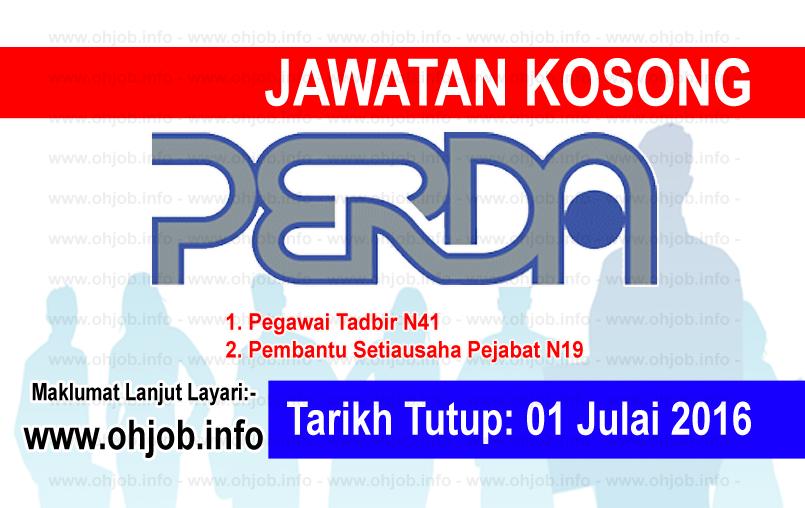 Jawatan Kerja Kosong Lembaga Kemajuan Wilayah Pulau Pinang (PERDA) logo www.ohjob.info julai 2016
