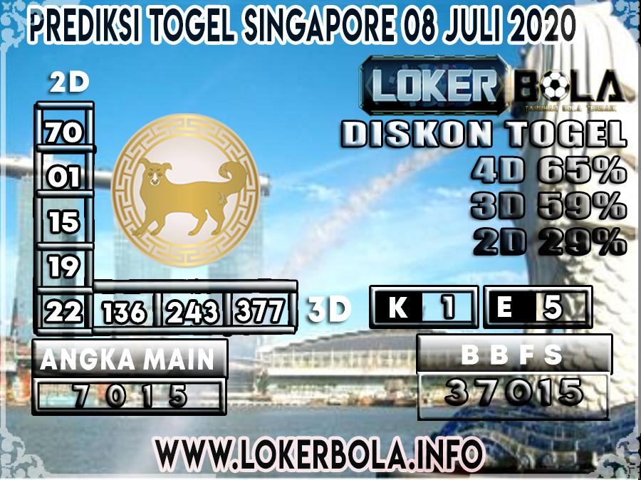 PREDIKSI TOGEL SINGAPORE LOKERBOLA 08 JULI 2020