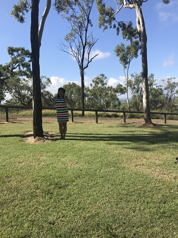 mom enjoying the scenery at queensland australia