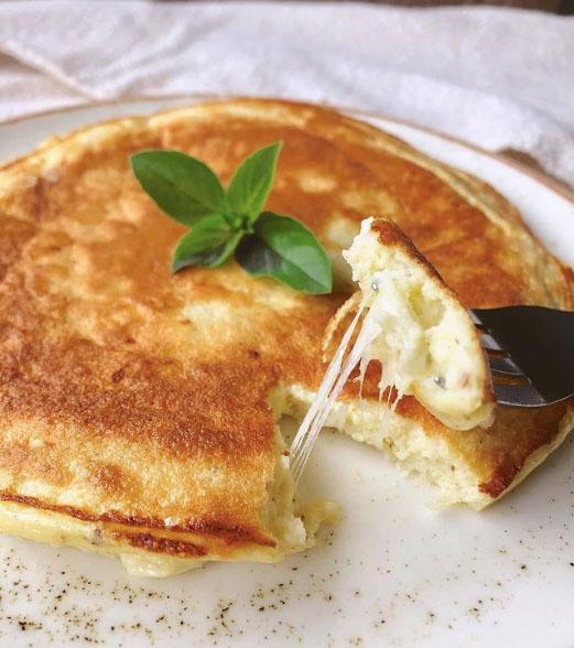 Receita pão de queijo com tapioca na frigideira