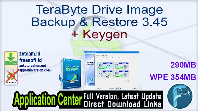 TeraByte Drive Image Backup & Restore 3.45 + Keygen_ ZcTeam.id