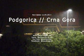 Nevrijeme u Podgorici (u noći između 11. i 12. septembra)