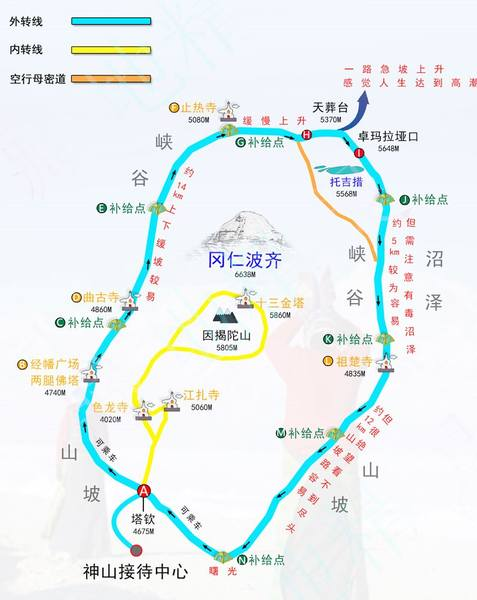 西藏阿里轉山地圖