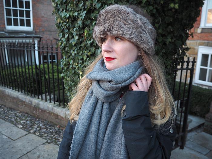 fur headband fashion bloggers