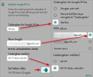 Cara Backup WhatsApp Chat Ke Akun Google Drive