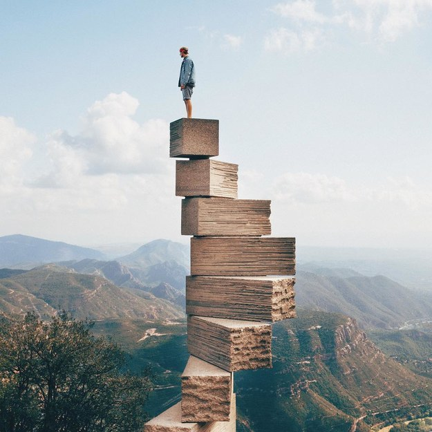 "17 Real Places That Are Probably Portals To The Wizarding World - The ""Steps to Heaven"" sculpture in Montserrat, Spain"