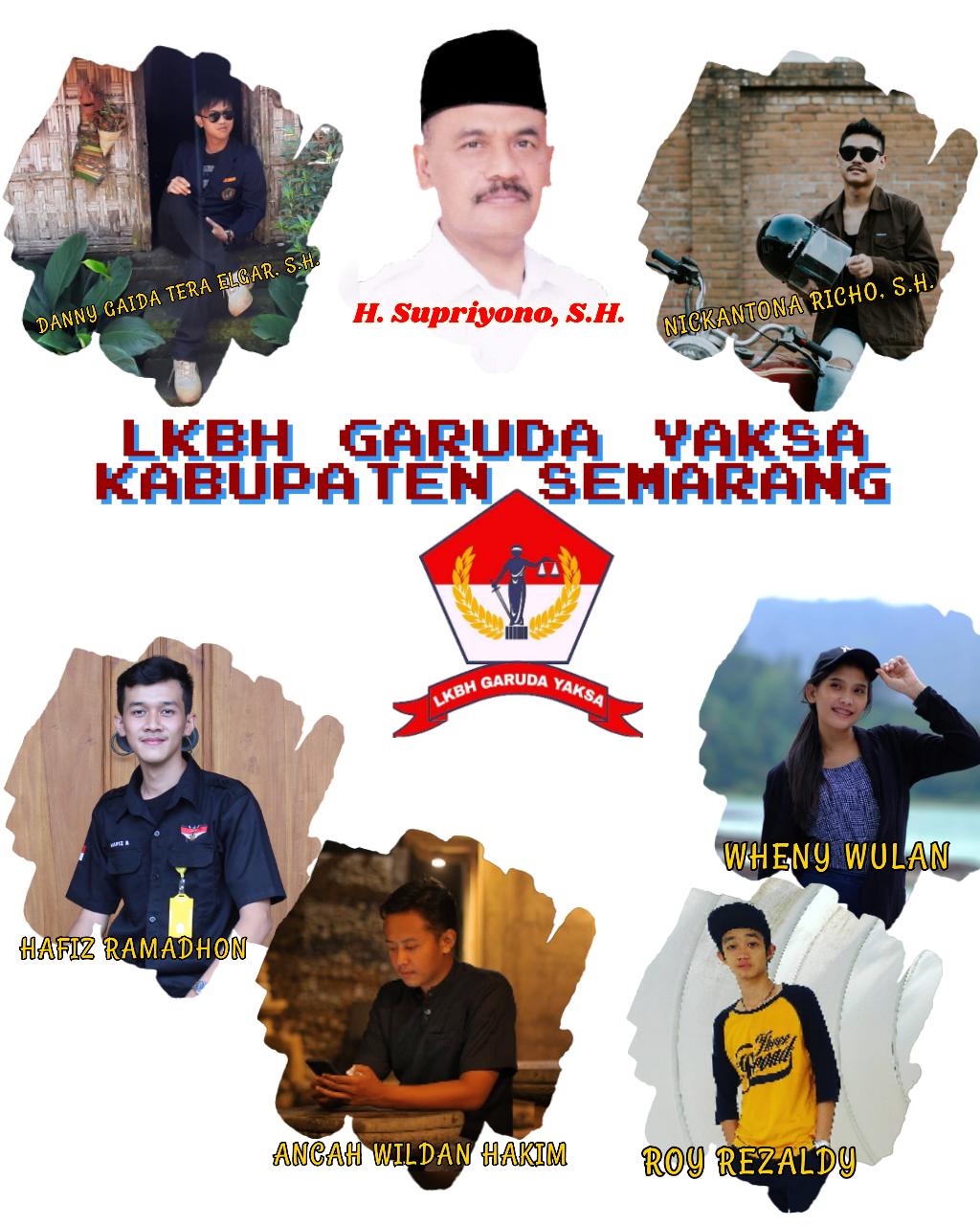 Pengurus Lembaga Konsultasi dan Bantuan Hukum LKBH Garuda Yaksa Kabupaten Semarang Provinsi Jawa Tengah Indonesia