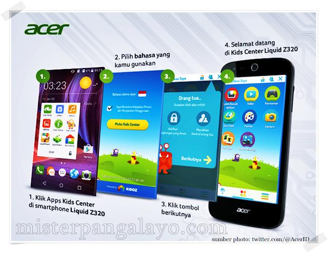 Cara mengaktifkan fitur Kids Center di Acer Liquid Z320