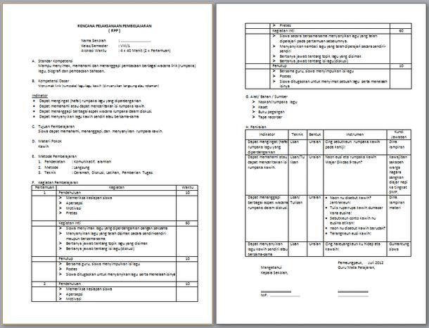 Perangkat Pembelajaran Bahasa Sunda SMP Kelas 7 8 9 Kurikulum 2013