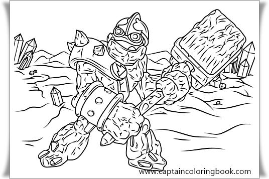 Skylanders Giants Magic Series1 Pop Fizz Coloring Pages Printable | 357x536