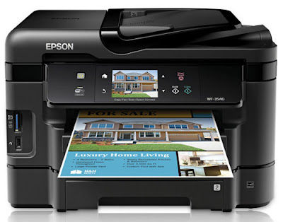 The impress lineament is adept too the component subdivision is withal fast Epson WorkForce WF-3540 Driver Download